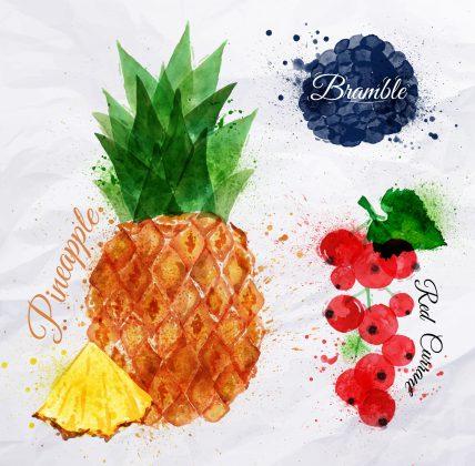 Fruit op kleding