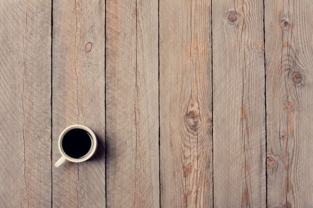 Koffie op tafel